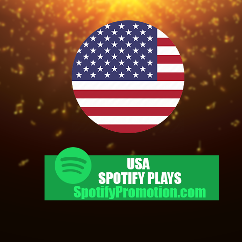 USA Targeted Spotify plays streams promotion