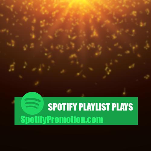 Spotify Playlist Plays promotion